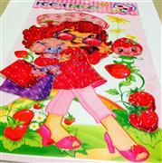 3 boyutlu sticker çilek kız modeli, Toptan Satış