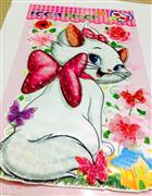 kedi maria 3 boyutlu sticker, Toptan Satış