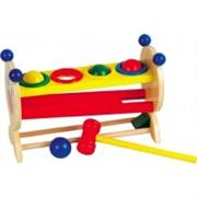 Zeka oyuncakları 4 Renkli Top ve Ahşap Çekiç, Toptan Satış