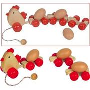 ahşap oyuncaklar Yumurtalı Tren Tavuk, Toptan Satış