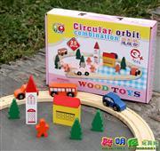 Toptan ahşap oyuncak 25 parça araba yolu seti, Toptan Satış