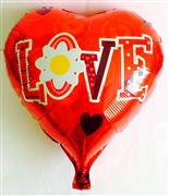 toptan folyo balon kırmızı kalp love yazılı, Toptan Satış