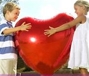 Toptan folyo balon kırmızı kalp orta , Toptan Satış