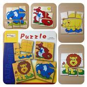 9 Parça ahşap hayvan Puzzle, Toptan Satış