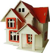 toptan ahşap puzzle 6 plakalı villa G-AH003, Toptan Satış