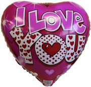folyo balon pembe kalp model love yazılı, Toptan Satış