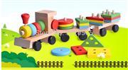 ahşap zeka oyuncakları geometrik tren, Toptan Satış