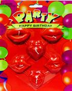 toptan parti mumu 6 lı dudak gül ve kalp model, Toptan Satış