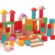 toptan oyuncak 120 parça ahşap blok, Toptan Satış