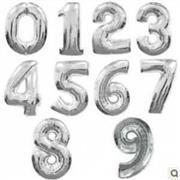 toptan rakamlı folyo balon gümüş renk, Toptan Satış