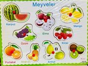 toptan ahşap oyuncak yapboz düğmeli meyveler, Toptan Satış