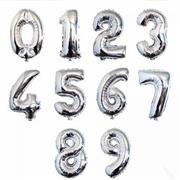 toptan rakam folyo balon gümüş renk 70 cm, Toptan Satış
