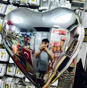 Toptan Folyo balon 22 inç gümüş renk kalpli, Toptan Satış