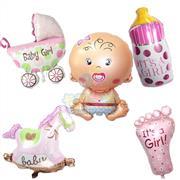 Folyo Balon 5 li Kız Set, Toptan Satış fiyatları