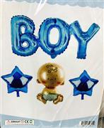 4 Parça Boy yazılı Folyo Balon Seti, Toptan Satış