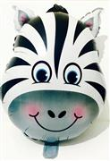 Safari Model Zebra Folyo Balon, Toptan Satış