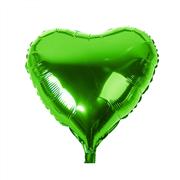 Yeşil Renk Kalp Folyo Balon, Toptan Satış