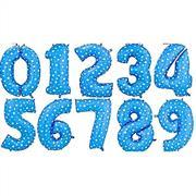 Toptan rakam folyo balon mavi puantiyeli, Toptan Satış