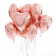 Gül Kurusu Rengk Kalp Folyo Balon 18 inç, Toptan Satış