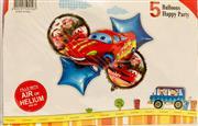 Arabalar Model 5 li Folyo Balon Seti, Toptan Satış fiyatları