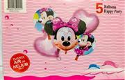 Mikii Model 5 li Folyo Balon Seti, Toptan Satış