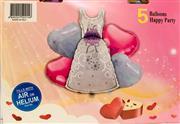 Gelin Model 5 li Folyo Balon Seti, Toptan Satış fiyatları