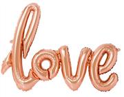 Toptan folyo balon Love Yazısı Gül Kurusu renk, Toptan Satış