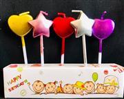 Krom Renk Kalp Yıldız Parti Mumu, Toptan Satış