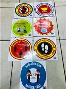 Sosyal Mesafe Yapışkanlı sticker yazıları, Toptan Satış