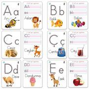 Yaz - Sil Aktivite Kartları alfabe Serisi, Toptan Satış fiyatları